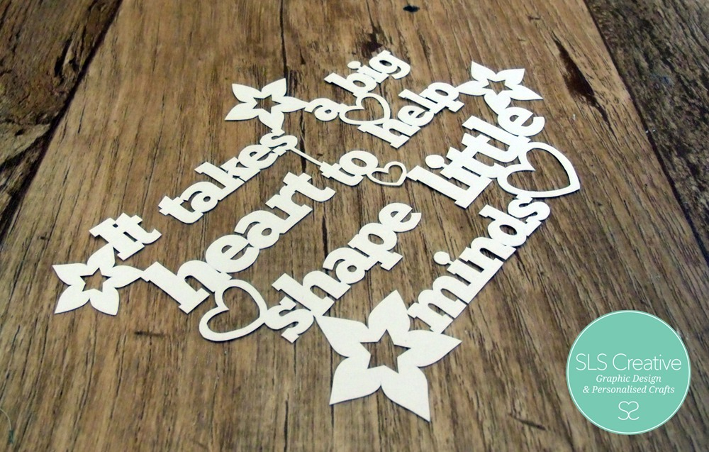 Paper Cut Template: It takes a big heart to help shape little minds ...