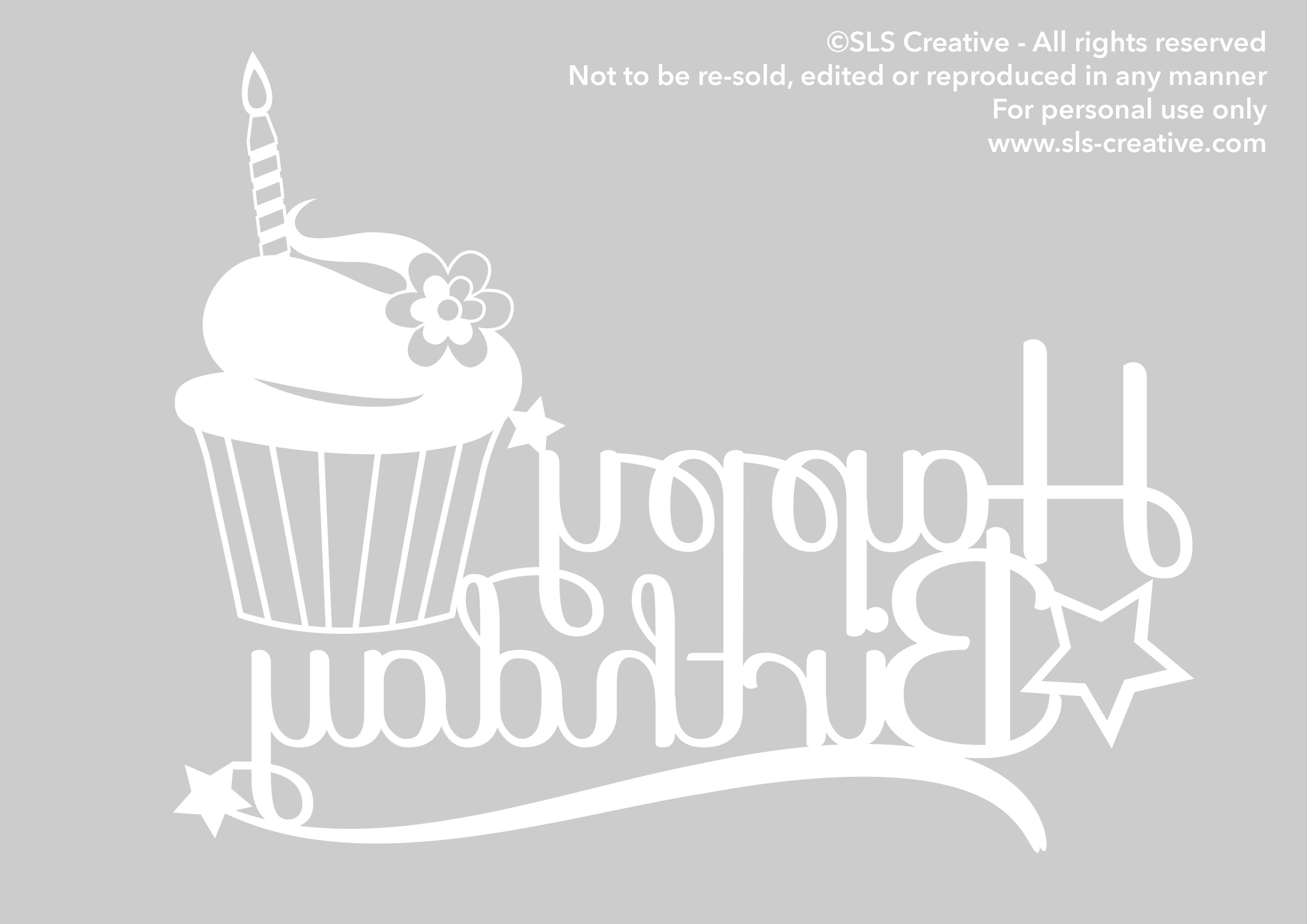 Happy Birthday SLS Creative! – Free Paper Cut Template | SLS Creative