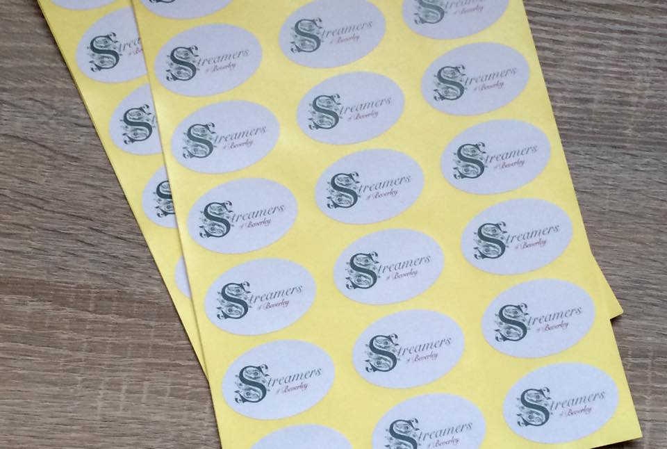 Yellow Oval Logo Oval Logo Stickers